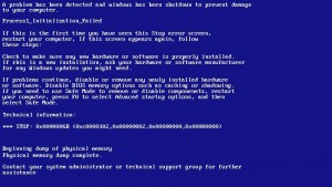 BSOD 0X0000006B PROCESS1_INITIALIZATION_FAILED